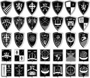 Different coats of arms Royalty Free Stock Images