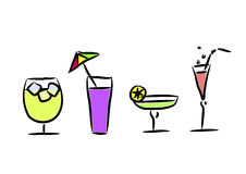 Different cocktails. Vector illustration Royalty Free Stock Image