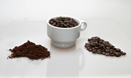 Different coffee presentations Royalty Free Stock Photo