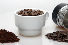 Different coffee presentations Stock Image