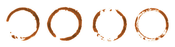 Different coffee stains Stock Photo