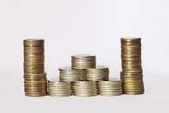 Different coins Stock Photo