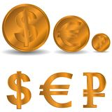 Different coins Stock Image