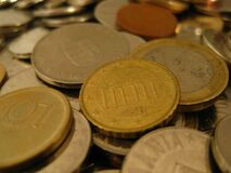 different-coins Royalty Free Stock Images