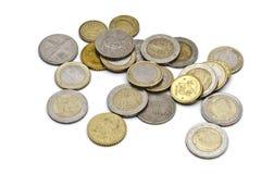 Different coins closeup Stock Photos