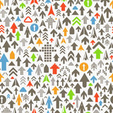 Different color arrows pattern. Seamless background of different color arrows vector illustration