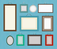 Different color blank picture frame template collection set. Royalty Free Stock Photography