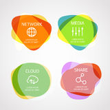 Different color blobs with template text Royalty Free Stock Photo
