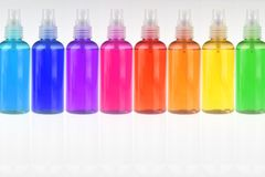 Different color bottles Royalty Free Stock Photo