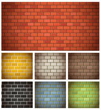 Different color brick textures stock illustration