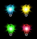 Different color bulbs Royalty Free Stock Photo