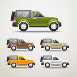 Different color cars illustration Stock Photography