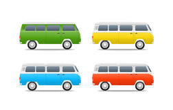 Different color cars vector illustration Stock Photos
