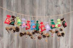 Christmas handmade decoration Royalty Free Stock Photos