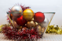 Different color Christmas tree decorations Royalty Free Stock Image
