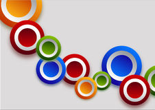 Different  color circles Stock Images