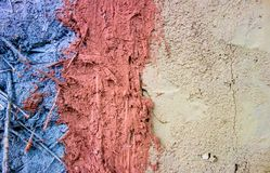 Different color of clay and sand mixure with reed Royalty Free Stock Photos