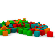 Different color cubes Stock Images