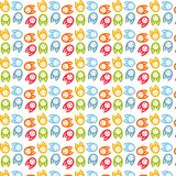 Different color dogs Seamless pattern Stock Images