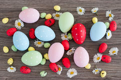 Different color Easter eggs Royalty Free Stock Photography
