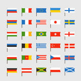 Different color flags of countries. Clip-art Royalty Free Stock Images