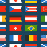 Different color flags seamless background. Different color flags seamless vector background Royalty Free Stock Photo