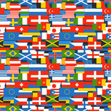 Different color flags seamless pattern. Different color flags seamless vector pattern Royalty Free Stock Photo