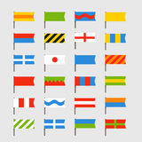 Different color flags set. Ready for a text Royalty Free Stock Photos