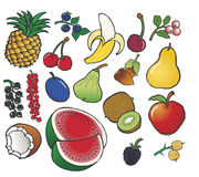 Different color fresh fruits Royalty Free Stock Photo
