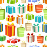 Different color gift boxes seamless pattern Royalty Free Stock Image