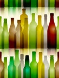 Different color glass bottles Stock Images