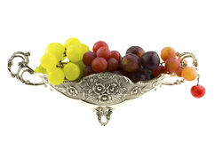Different color grapes Royalty Free Stock Photo
