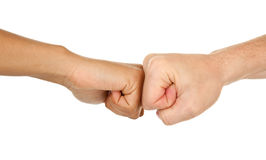 Different color hands. Hands of different color with different gestures Royalty Free Stock Photos