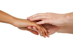Different color hands Royalty Free Stock Images