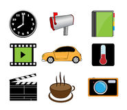 Different color icons Stock Photos