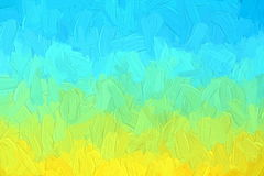 Different color impasto Royalty Free Stock Image