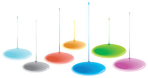 Different color liquid drip Stock Images