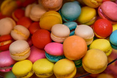Different color of macarons Stock Images