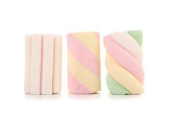 Different color marshmallows. Close up. Stock Image