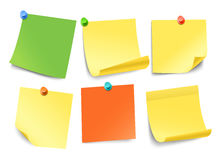 Different color paper stickers collection Stock Photography
