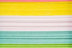 Different color papers Stock Image