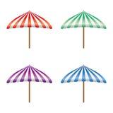 Different color parasol vector stock photos