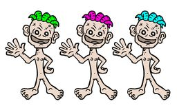 Different color puppet Stock Images