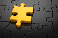 Different color puzzle piece Royalty Free Stock Photos