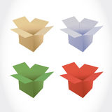Different color set of boxes illustration design Royalty Free Stock Photography