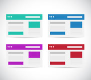 Different color set browser illustration design Stock Photo