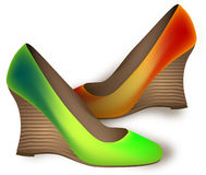 Different color shoes Royalty Free Stock Image
