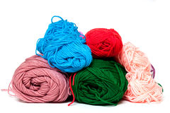 Different color silk threads Stock Photos