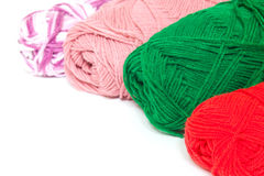 Different color silk threads Royalty Free Stock Photos
