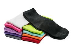 Different color socks isolated Stock Images
